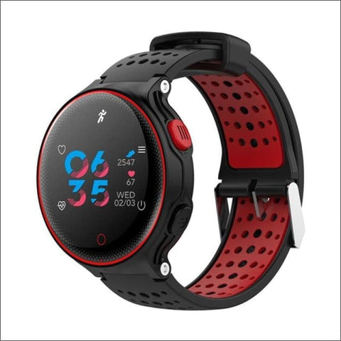 Smartwatch & Heart Rate Tracker - Red - On Wrist