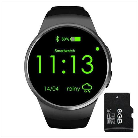 Image of Smartwatch W/android Support - Black Add 8G Card - On Wrist