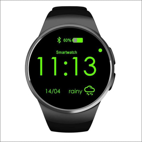 Smartwatch W/android Support - Black No Retail Box - On Wrist