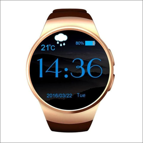 Image of Smartwatch W/android Support - Gold No Retail Box - On Wrist