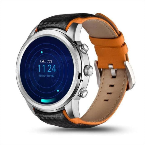Image of Smartwatch W/gps And Sim Card Support - Silver / China - On Wrist