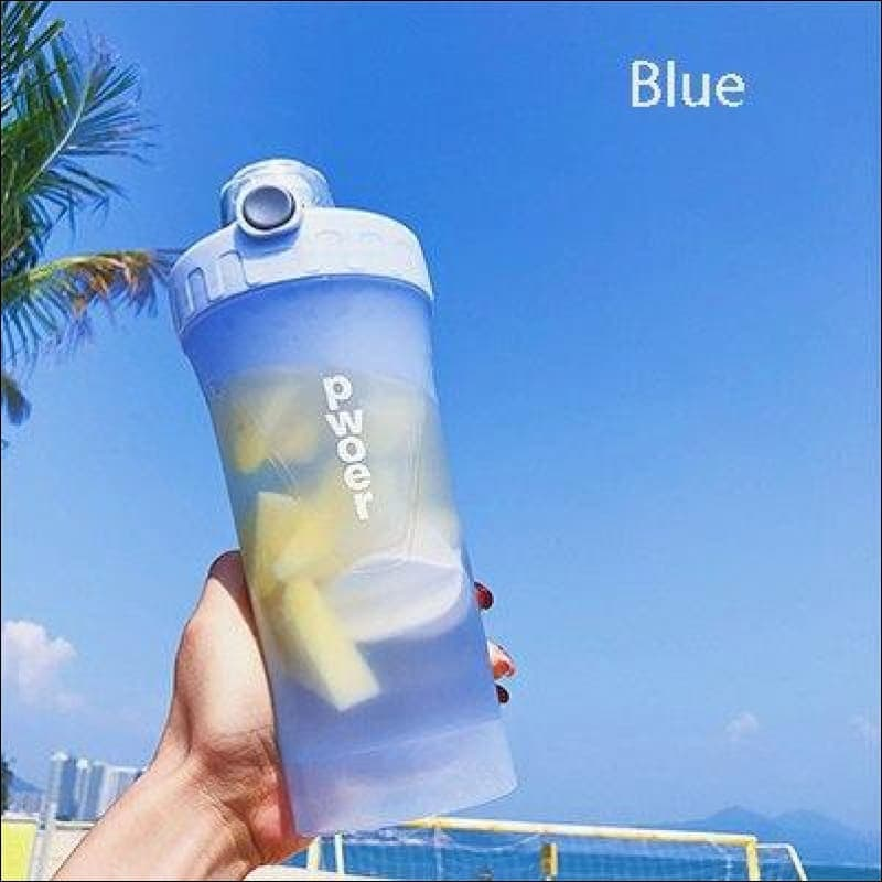Sports And Fitness Nutritional Shake Bottle - Blue