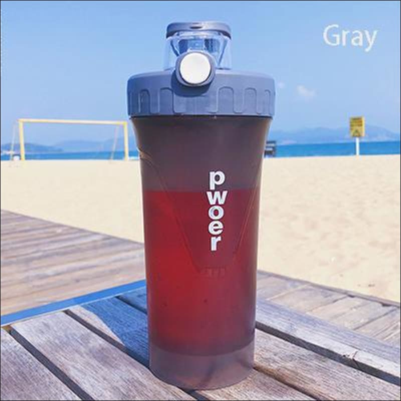 Sports And Fitness Nutritional Shake Bottle - Gray