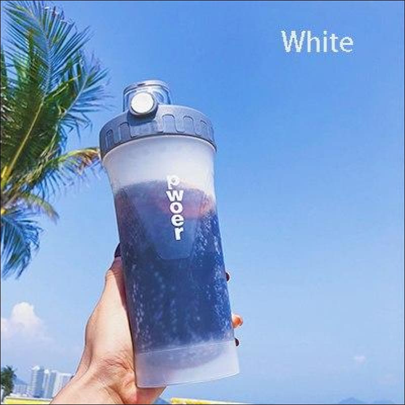 Sports And Fitness Nutritional Shake Bottle - White