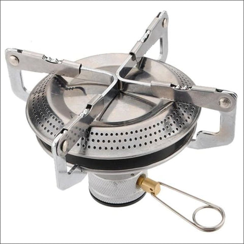 Stainless Steel Mini Camping Bbq Gas Stove - White - Gas Stove