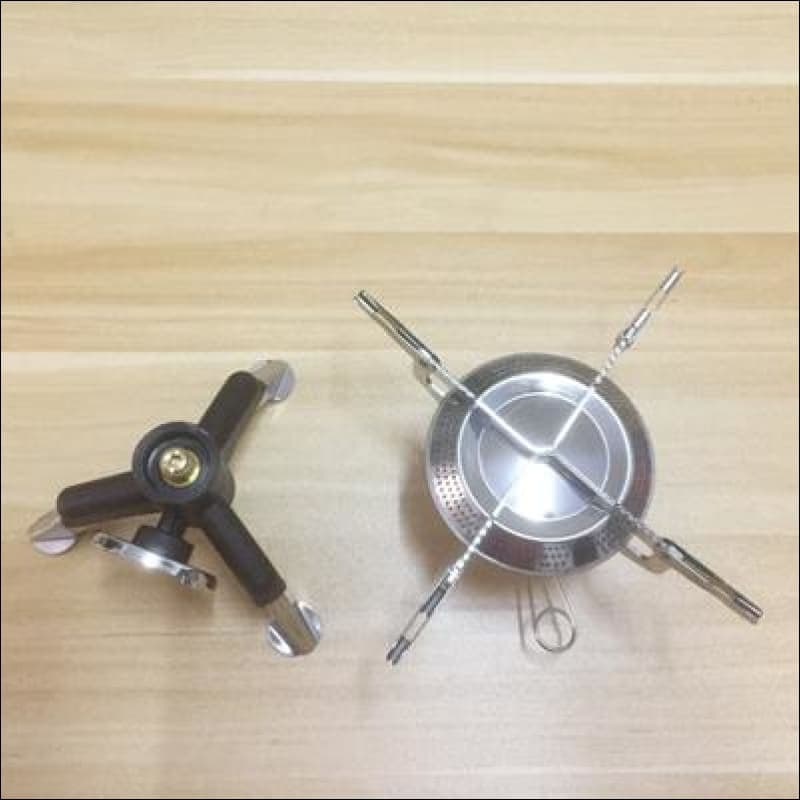 Stainless Steel Mini Camping Bbq Gas Stove - Yellow - Gas Stove