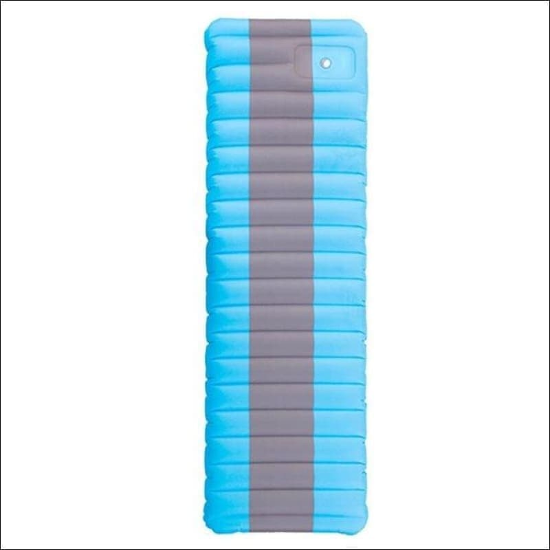 Ultralight Inflatable Mattress For Outdoor Camping. - Sky Blue