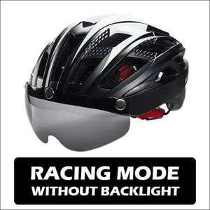Victgoal Unisex Visor Helmets - Black No Backlight / China