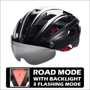 Victgoal Unisex Visor Helmets - Black With Backlight / China