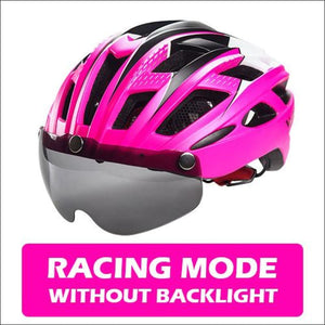 Victgoal Unisex Visor Helmets - Rosy No Backlight / China