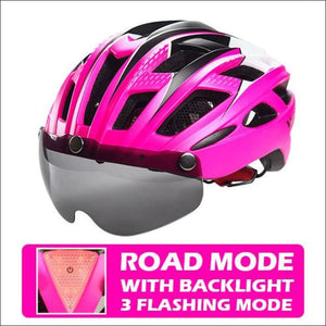 Victgoal Unisex Visor Helmets - Rosy With Backlight / China