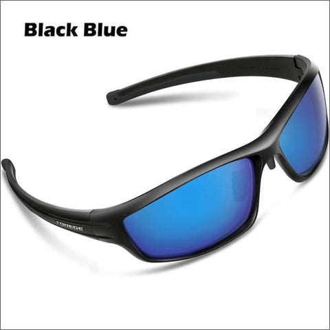 Womens Polarized Hiking Sunglasses - Black Blue - Eyewear