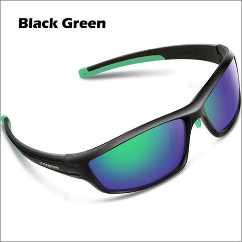 Womens Polarized Hiking Sunglasses - Black Green - Eyewear