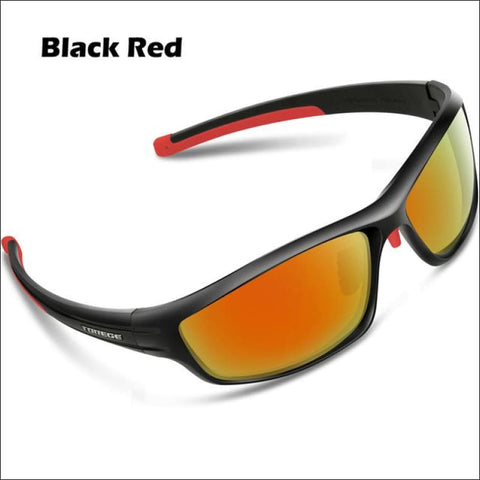 Womens Polarized Hiking Sunglasses - Black Red - Eyewear