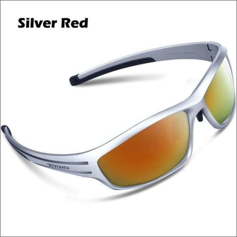 Image of Womens Polarized Hiking Sunglasses - Silver Red - Eyewear