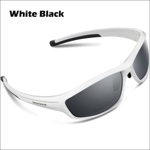 Image of Womens Polarized Hiking Sunglasses - White Black - Eyewear