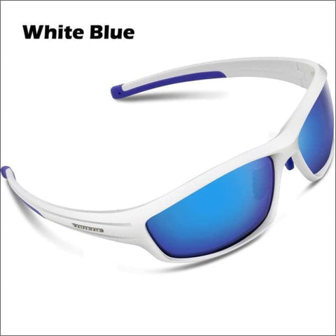 Image of Womens Polarized Hiking Sunglasses - White Blue - Eyewear