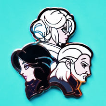 Load image into Gallery viewer, Witcher 3 - Yennefer, Ciri, & Geralt Enamel Pin