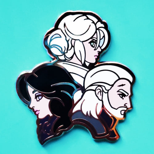 Witcher 3 - Yennefer, Ciri, & Geralt Enamel Pin