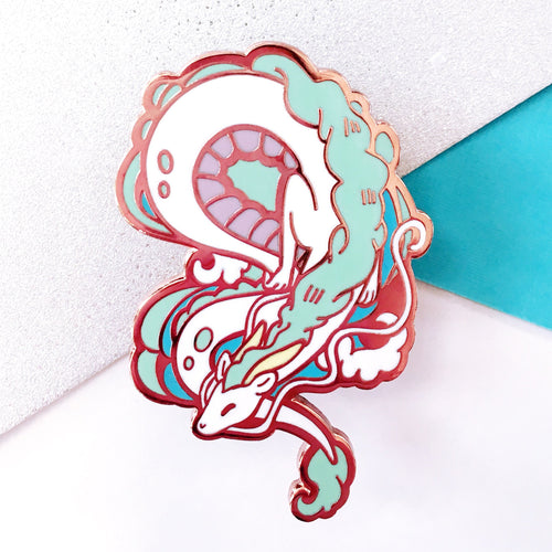 Dragon Haku Enamel Pin