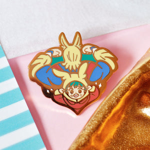 All Might & Baby Deku Enamel Pin