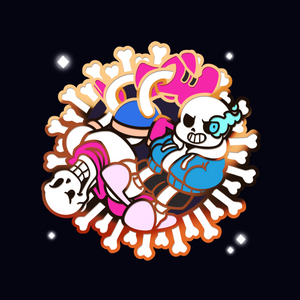 **PRE-ORDER** Sans and Papyrus Enamel Pin