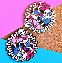 Load image into Gallery viewer, Sans & Papyrus Enamel Pin