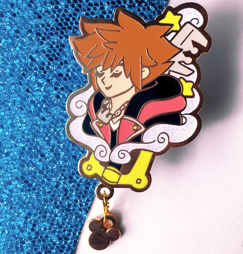 Sora + Chain Enamel Pin