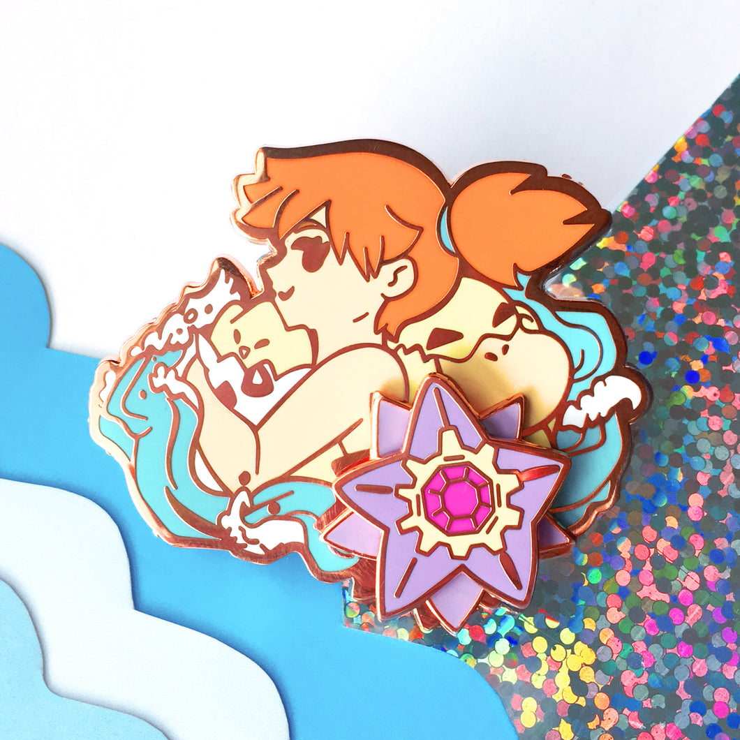 Misty's Team Spinning Enamel Pin