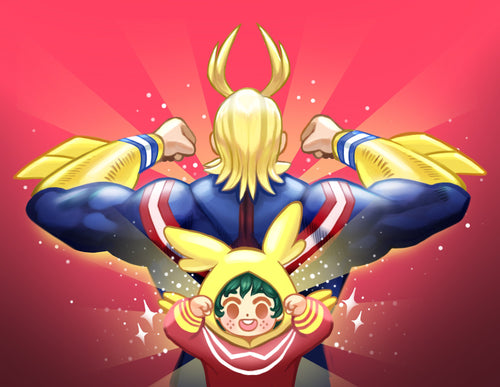 All Might and Baby Deku Print