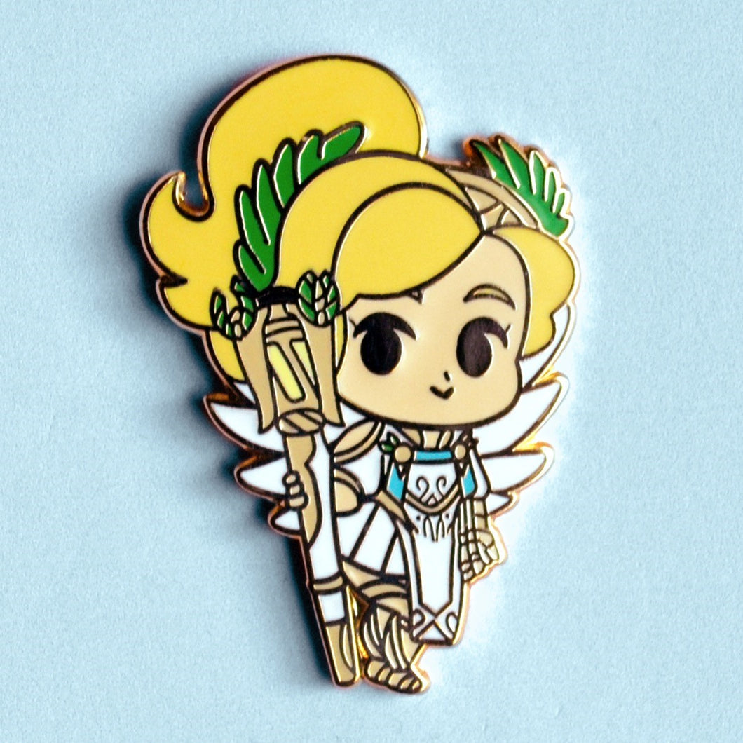 Winged Victory Mercy Enamel Pin