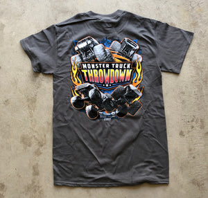 Kids Monster Truck Throwdown 2019 Tour T-Shirt Charcoal