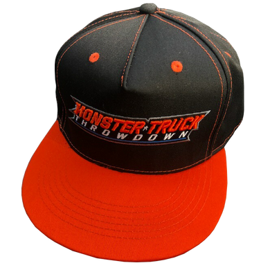 Monster Truck Throwdown Black and Orange Snapback