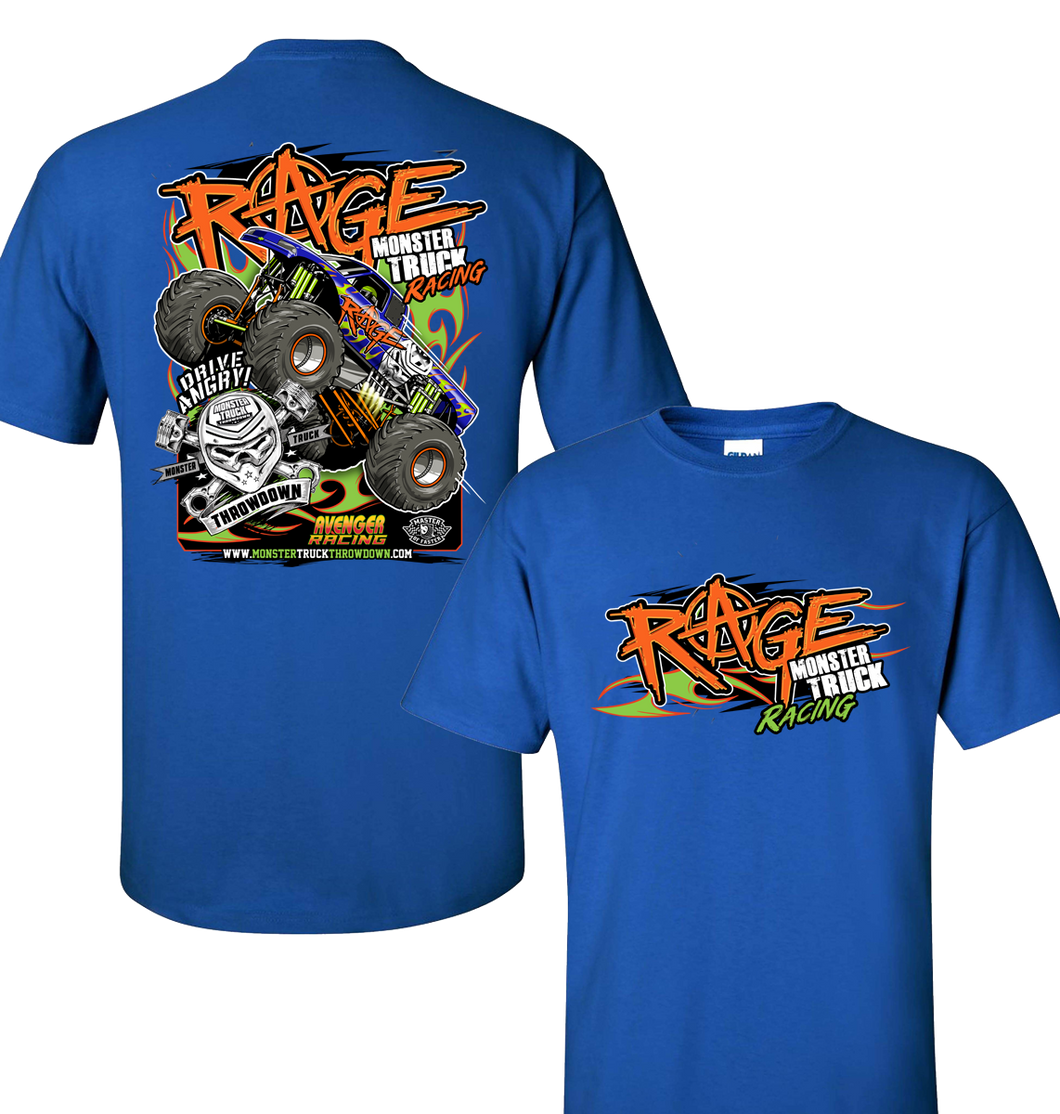 Rage Monster Truck Kids T-Shirt