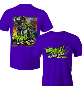 Rap Attack Monster Truck Kids T-Shirt Purple