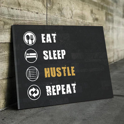 Eat Sleep Hustle Canvas