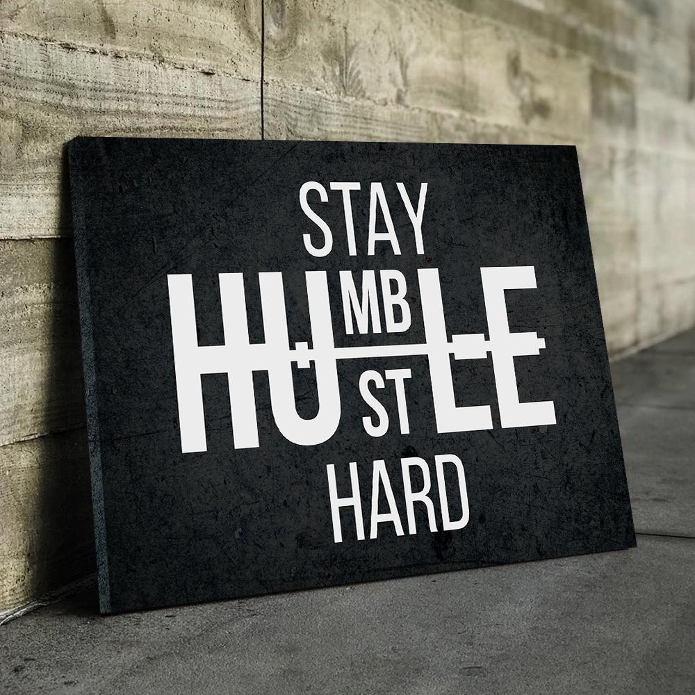Humble Hustle Canvas (Dark)