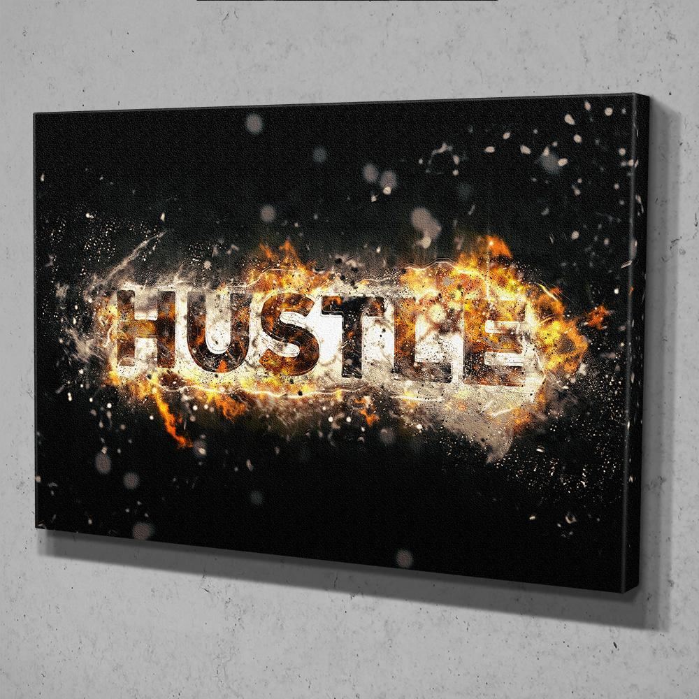Hustle Fire Canvas