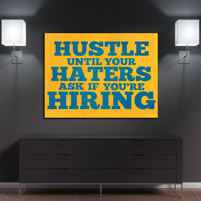 Hustle Until Hiring Canvas
