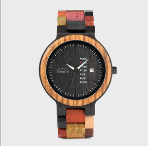 The Multi-Coloured Wooden Watch