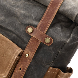Waxed Canvas Rolled Backpack | Travel Backpacks for men