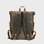 Waxed Canvas Rolled Backpack