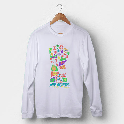 Avengers Infinity War Pop Art Man's Long Sleeve | Leaftunes
