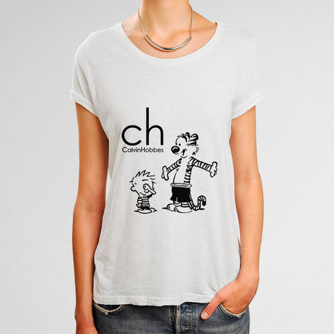 Calvin and Hobbes Calvin Klein Woman's T-Shirt | Leaftunes
