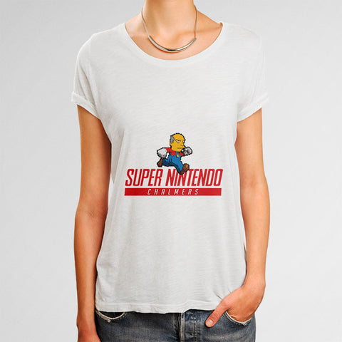 Super Nintendo Chalmers Simpsons Woman's T-Shirt | Leaftunes