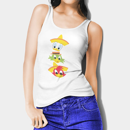 The Three Caballeros Woman's Tank Top | Leaftunes