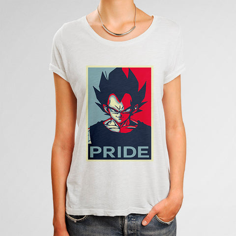 Vegeta Pride Poster Woman's T-Shirt | Leaftunes