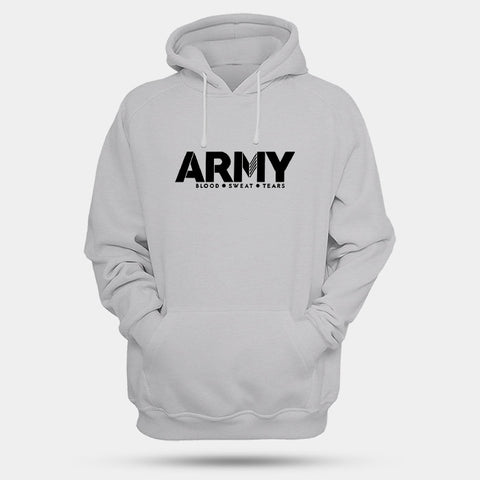 Army Blood Sweat Tears Man's Hoodies | Leaftunes