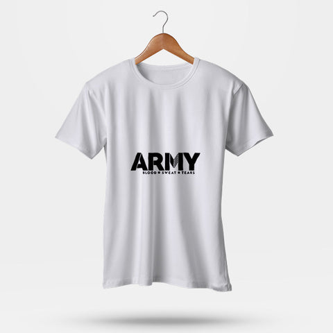 Army Blood Sweat Tears Man's T-Shirt | Leaftunes