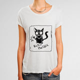 Black Panther Cat Woman's T-Shirt | Leaftunes